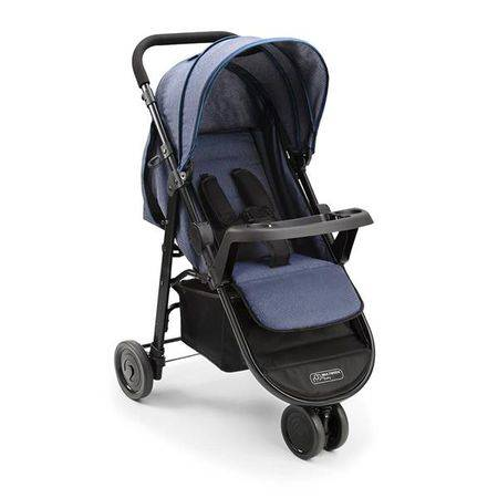 Multikids Baby Carrinho de Bebe Agile 3 rodas Jeans Multikids Baby - BB527 BB527