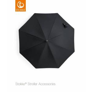 Stokke, stroller black parasol, black