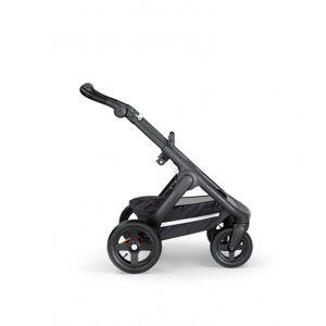Stokke, Trailz black terrenghjul, black leatherette handle