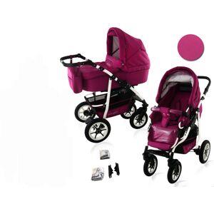 Bavario White 2 in 1 barnvagn - Lounge Pink