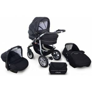 Coral Duo 3 in 1 Barnvagn – Travel System - Black