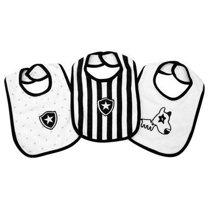 Kit Babador Botafogo c/ 3 peças Infantil - Unissex