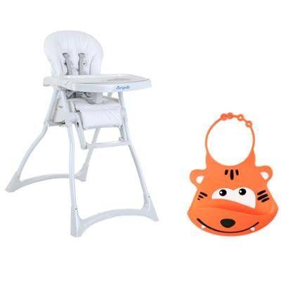Kit Cadeira de Alimentao  Burigotto e Babador de Silicone Silybib Leo - Unissex