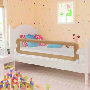 vidaXL Sengehest småbarn gråbrun 150x42 cm polyester