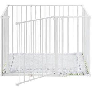 BabyDan, Square lekegrind inkl. teppe, hvit