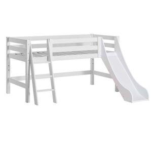 Hoppekids Halvhøj seng delbar m. skrå stige og rutsjebane 70x160 cm, Premium - Hoppekids