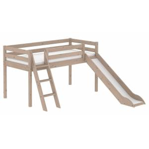 Flexa Classic Halvhøj seng m. slide - terra