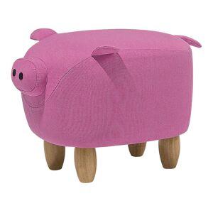 Beliani Sittpuff rosa PIGGY