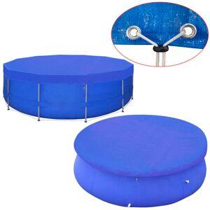 vidaXL Poolöverdrag PE runt 460 cm 90 g/m²