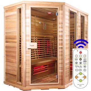 Luxway Sauna Relax Lux Vänster cederträ