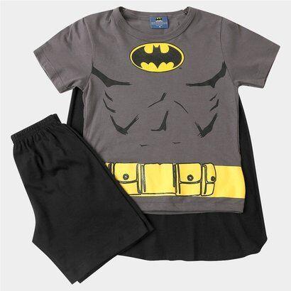 Pijama Batman Curto + Capa - Masculino