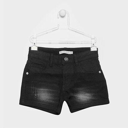 Short Jeans Infantil Lilica Ripilica Estonada Feminina - Feminino