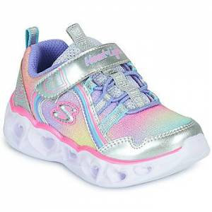 Skechers  HEART LIGHTS RAINBOW LUX  Barn  Pige  Sko  Sneakers barn G 21 Sølv