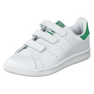 Adidas Originals Stan Smith Cf C Ftwr White/Green, Lapset, Kengät, Valkoinen, EU 31