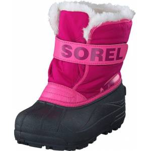 Sorel Snow Commander 652 Tropic Pink, Deep Blush, Kengät, Bootsit, Lämminvuoriset kengät, Sininen, Vaaleanpunainen, Lapset, 31
