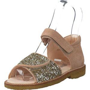 Angulus Sandal With Velcro Closure Nude/champagne Glitter, Kengät, Sandaalit ja Tohvelit, Remmisandaalit, Ruskea, Lapset, 23