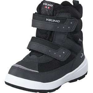 Viking Play Ii R Gtx Reflective/black, Kengät, Bootsit, Lämminvuoriset kengät, Musta, Harmaa, Lapset, 28