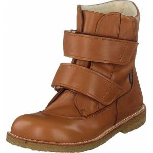 Angulus Tex-boot With Velcro Straps Cognac, Kengät, Bootsit, Lämminvuoriset kengät, Ruskea, Lapset, 27
