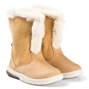 Timberland Track Boots with Faux Fur Wheat Lasten kengt 26 (US 9)