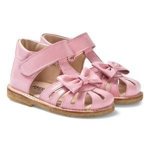 Angulus Pink Patent Bow Detail Closed Toe Leather Sandals Lasten kengt 23 (UK 6)