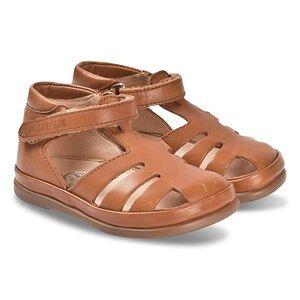 Pom Dapi Camel Leather Closed Toe Newflex Leon Sandals Lasten kengt 21 (UK 4.5)