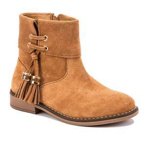 Mayoral Suede Zip Up Ankle Boots Chesnut Lasten kengt 31 (UK 12.5)