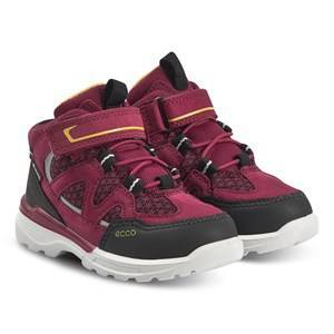 ECCO Urban Hiker Shoes Black and Red Plum Hiking boots