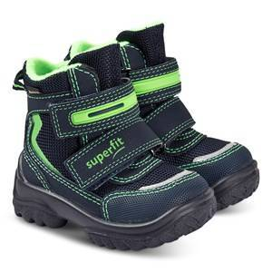 Superfit Snowcat Boots Navy and Green Snow boots