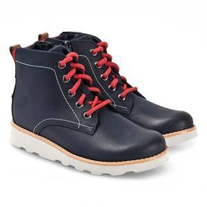 Clarks Crown Hike Boots Navy Leather Hiking boots