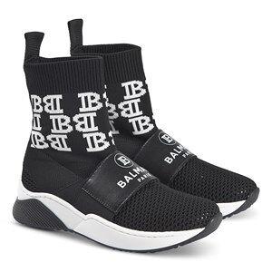 Balmain Logo Sock Sneakers Black Lasten kengt 34 (UK 2)