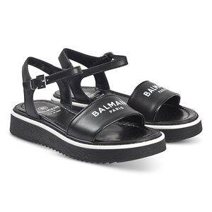 Balmain Logo Buckle Sandals Black Lasten kengt 30 (UK 11.5)