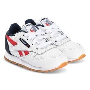 Reebok Classic Leather Infants Sneakers White and Navy Lasten kengt 24 (UK 7)