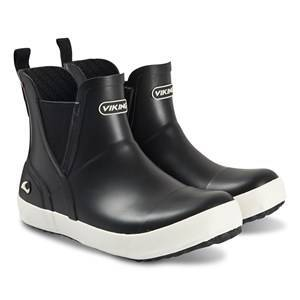 Viking Stavern Jr. Rain Chelsea Boots Black Wellingtons