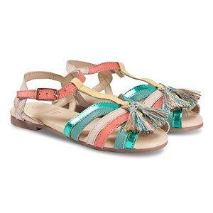 Carrment Beau Multi Velcro Strap Tassle Detail Sandals Lasten kengt 36 (UK 3)