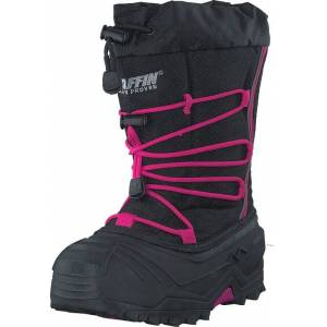 Baffin Snogoose Black/Pink, Sko, Boots, Varmforet boots, Grå, Unisex, 29