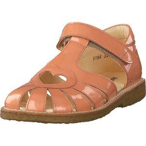 Angulus Sandal With Heart Detail And V Peach, Sko, Sandaler og Tøfler, Flate sandaler, Oransje, Barn, 32
