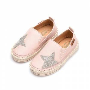 Newchic Girls Shining Sequined Star Decor Stitching Comfy Flat Shoes