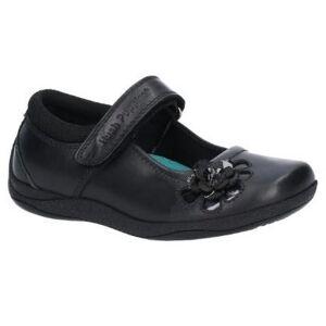 Hush Puppies Hush valper Jessica Junior jenter Lær skolen sko Svart 3 UK
