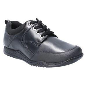 Hush Puppies Hush valper Dexter gutter Junior blonder opp Lær skolen sko Svart 13.5 UK Child