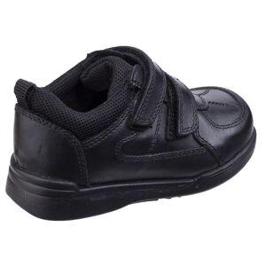 Hush Puppies Hush valper Childrens gutter Liam skole sko Svart 12 UK Junior