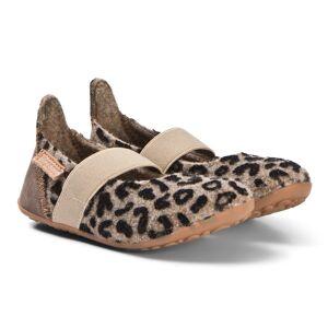 Bisgaard Home Shoe - Wool Ballet Brown-Leopard 35 EU