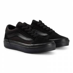 Vans Double Black Old Skool Lace Up Trainers 29 (UK 11.5, US 12)