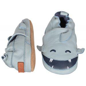 Melton, Leather shoe Shark, Pastel Blue