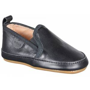 Move by Melton, Prewalker Slip on, Black Plain Leather
