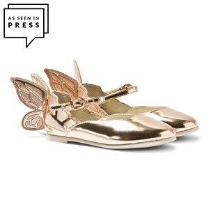 Sophia Webster Mini Chiara Mini Butterfly Shoes Rose Gold 33 (UK 1 / 9 years)