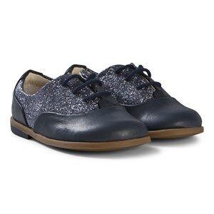 Clarks Drew Wow Shoes Navy Combi 20.5 (UK 4.5)
