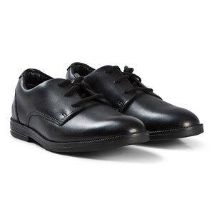 Clarks Rufus Edge Shoes Black Leather 35 (UK 2.5)