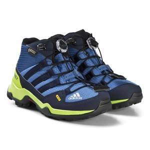 adidas Performance Blue and Green Terrex Mid Gortex Hiking Boots 30 (UK 11.5)