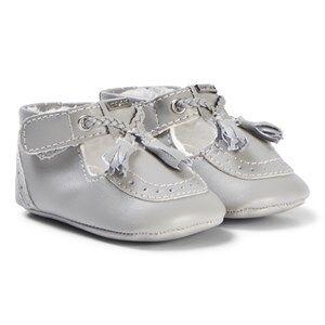 Mayoral Silver Tassel Brogue Crib Shoes 15 (newborn)