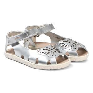 Camper Silver Leather Butterfly Sandals 33 (UK 1)